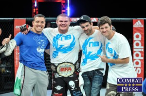 Copeland (second from left) (Phil Lambert/Combat Press)