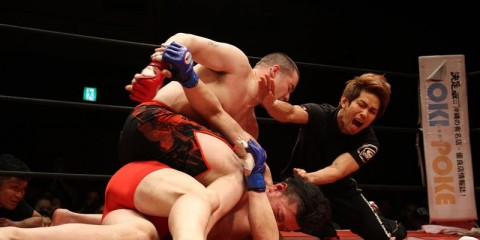 Justin Morton (top) (Facebook/Tenkaichi Fight)