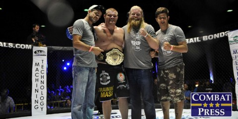 Josh Copeland (second from left) (Phil Lambert/Combat Press)