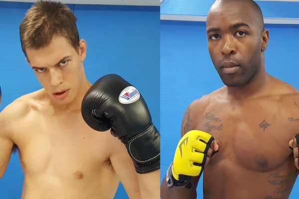 James Chaney (left) and Dominique Robinson (right) (Pancrase MMA)