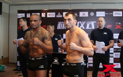 Ivan Jorge (left) fights Muslim Salikhov (right) (Kunlun Fight/Facebook)