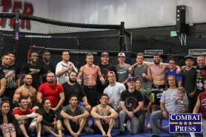 Gaethje (center) and his team at Grudge Training Center (Rob Tatum/Combat Press)